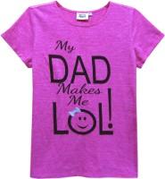 Abstract Mood Girls Printed T Shirt(Pink)