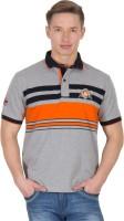 Wilkins & Tuscany Striped Men's Polo Neck Orange T-Shirt