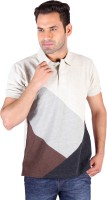Swag Geometric Print Men's Polo Neck Multicolor T-Shirt