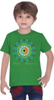 Tantra Boys Graphic Print Cotton T Shirt(Green)