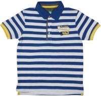 Poppers by Pantaloons Boys Striped T Shirt(Dark Blue, Pack of 1)