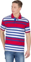Wilkins & Tuscany Striped Men Polo Neck Red T-Shirt