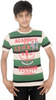 Menthol Boys Striped T Shirt(Multicolor, Pack of 1)