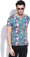United Colors of Benetton Floral Print Mens Round Neck Multicolor T-Shirt