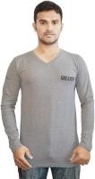 Al-Harsha Trend Solid Men's V-neck Grey T-Shirt