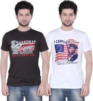 Zebu Printed Men's Round Neck Multicolor T-Shirt(Pack of 2)