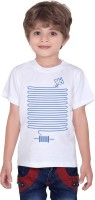 Tantra Boys Graphic Print T Shirt(White, Pack of 1)