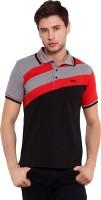 Elaborado Solid Mens Polo Neck Grey, Red, Black T-Shirt