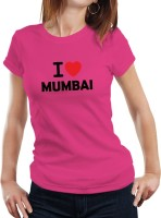 Fanideaz Printed Womens Round Neck Pink T-Shirt