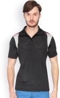 Campus Sutra Solid Men Polo Neck Denim Black, Grey T-Shirt