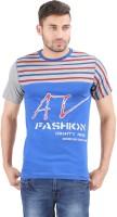 Al-Harsha Trend Striped Men's Round Neck Grey, Blue T-Shirt