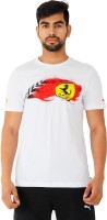 Puma Graphic Print Mens Round Neck White T-Shirt