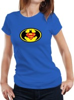 Fanideaz Printed Womens Round Neck Blue T-Shirt