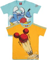 Disney Mickey Boys Printed T Shirt(Pack of 2)