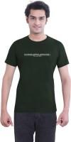 Tantra Graphic Print Men's Round Neck Dark Green T-Shirt