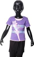 Starsy Girls Printed T Shirt(Purple)