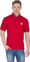 Wilkins & Tuscany Solid Men's Henley Red T-Shirt