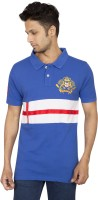 Red Line Solid Men's Polo Neck Blue T-Shirt