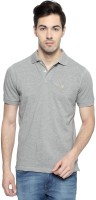Allen Solly Solid Men V-neck Grey T-Shirt
