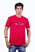 Heritage Design Printed Mens Round Neck Red T-Shirt