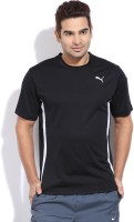Puma Solid Men's Round Neck Black T-Shirt