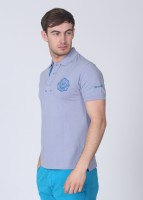 Breakbounce Solid Mens Polo Neck Purple T-Shirt