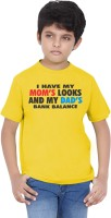 Tantra Boys Graphic Print Cotton T Shirt(Yellow, Pack of 1)