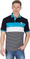 Wilkins & Tuscany Striped Men's Polo Neck Black T-Shirt