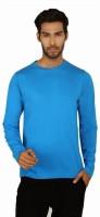SayItLoud Solid Men's Round Neck Blue T-Shirt