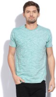 Breakbounce Solid Mens Round Neck Green T-Shirt