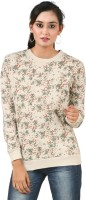 Hypernation Floral Print Womens Round Neck Multicolor, White T-Shirt