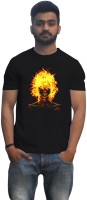 Lovely Collection Graphic Print Mens Round Neck Black T-Shirt