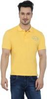 Imagica Solid Men's Round Neck Yellow T-Shirt