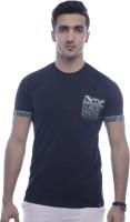 Urban Flux Solid Men Round Neck Black T-Shirt