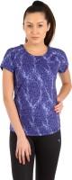 Puma Printed Womens Round Neck Blue T-Shirt