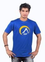 Heritage Design Printed Men's Round Neck Blue T-Shirt
