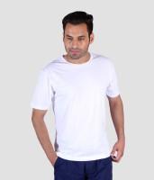 Humbert Solid Mens Round Neck White T-Shirt