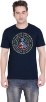 Tantra Graphic Print Men's Round Neck Dark Blue T-Shirt