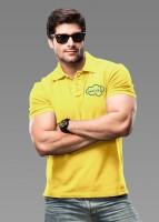 Imagica Solid Men's Polo Neck Yellow T-Shirt