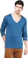 Izinc Solid Men's V-neck Light Blue T-Shirt