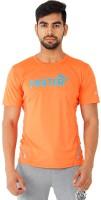 Puma Solid Men's Round Neck Orange T-Shirt