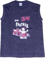 Padma Boys Printed T Shirt(Black Pack of 1)