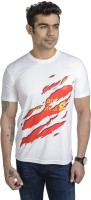 Total Football Graphic Print Men's Round Neck White T-Shirt