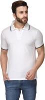 Scott International Solid Men Polo Neck White T-Shirt
