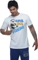 Clickroo Printed Men's Round Neck White T-Shirt