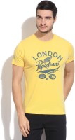 Pepe Jeans Printed Men's Round Neck Yellow T-Shirt