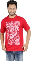 Checkers Bay Printed Men's Round Neck Red T-Shirt