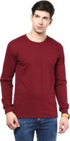 Izinc Solid Men's Round Neck Maroon T-Shirt