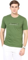 Okane Printed Men's Round Neck Dark Green T-Shirt