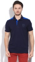 Puma Solid Mens Polo Neck Blue T-Shirt